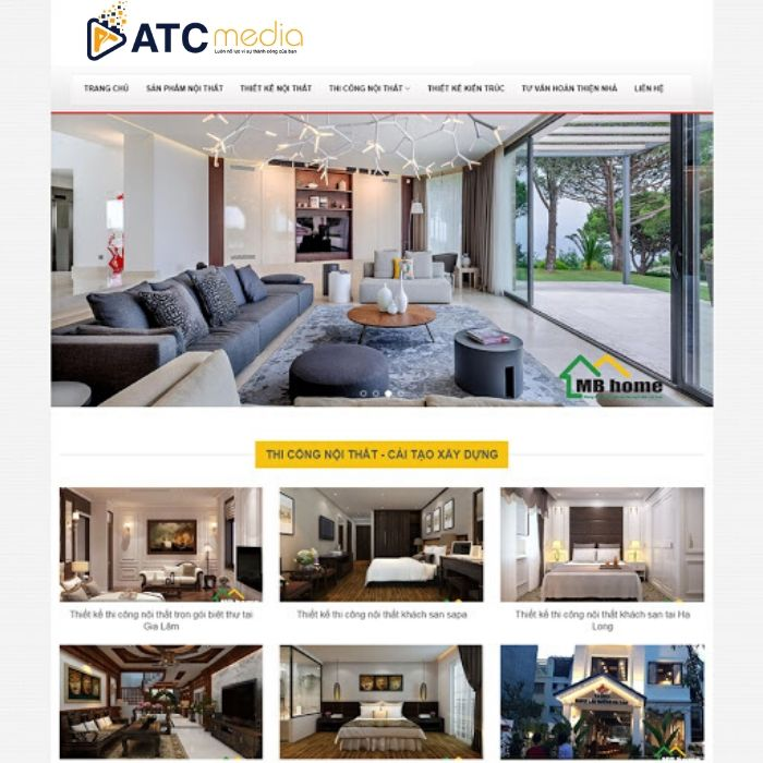website nội thất xây dựng